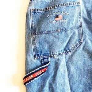 US Polo Assn Carpenter Jeans Logo Spell Out 90s